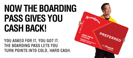 Now The Boarding Pass Gives You Cash Back!